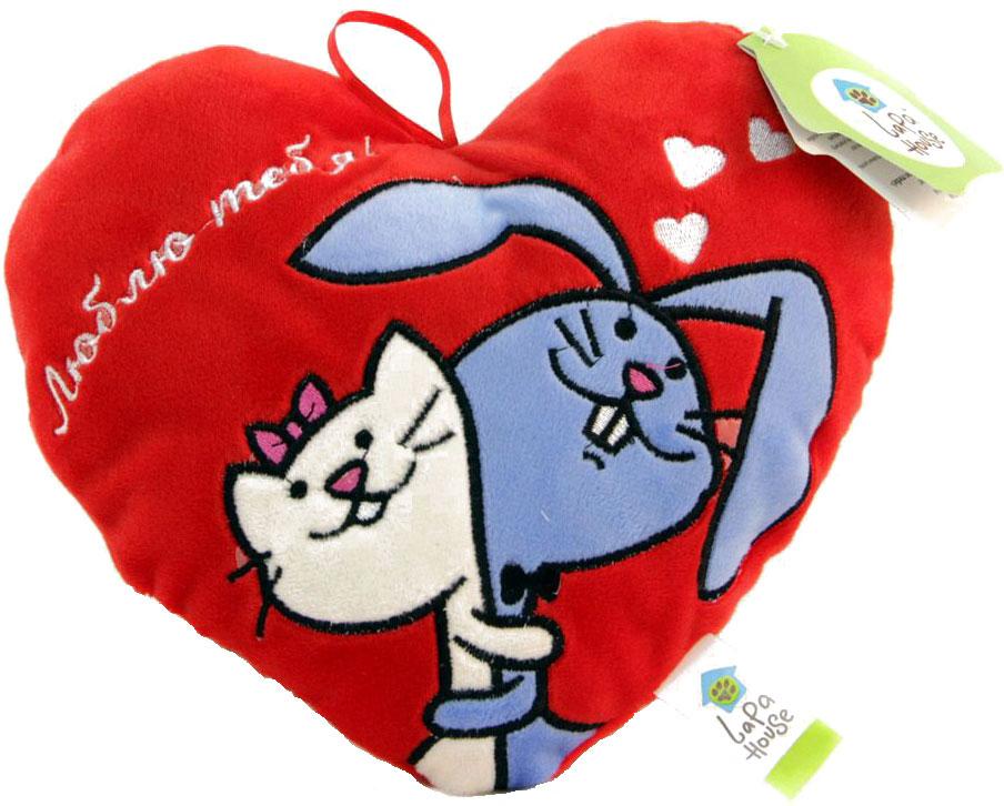 LAPA House Мягкая игрушка-подушка Люблю тебя! 25 см34146Мягкая игрушка-подушка LAPA House будет прекрасным подарком ко Дню всех влюбленных!