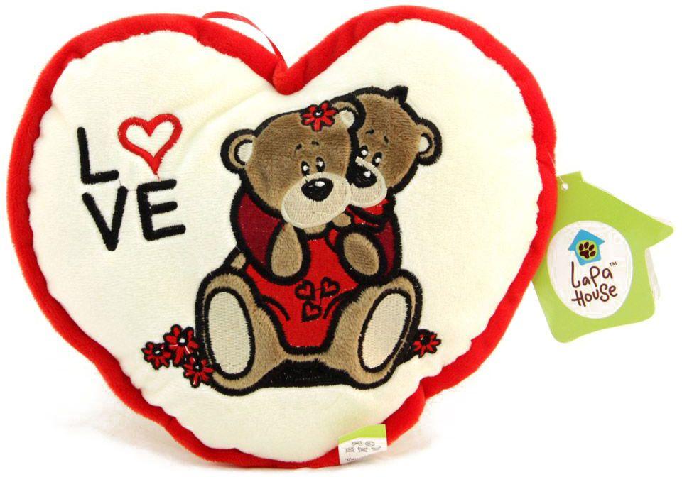 LAPA House Мягкая игрушка-подушка Вместе и навсегда 25 см34229Мягкая игрушка-подушка LAPA House будет прекрасным подарком ко Дню всех влюбленных!