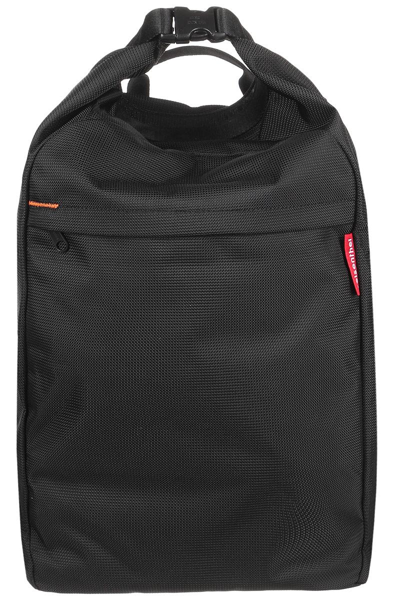 Рюкзак Reisenthel, цвет: черный, 29 л. HA7003HA7003Стильный рюкзак Reisenthel выполнен из полиэстера. Рюкзак имеет одно вместительное отделение, которое закрывается на застежку-фастекс. Снаружи, на передней стенке расположен втачной карман на застежке-молнии, внутри которого находятся прорезной карман на застежке-молнии, два накладных открытых кармана и два держателя для авторучек. Рюкзак оснащен широкими лямками регулируемой длины и ручкой для переноски в руке.