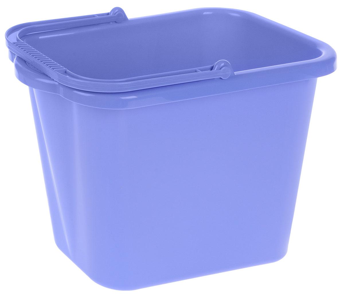 Ведро хозяйственное Idea, прямоугольное, цвет: сиреневый, 9,5 лМ 2420Прямоугольное ведро Idea изготовлено из прочного пластика. Изделие порадует практичных хозяек. Ведро можно использовать для пищевых продуктов или для мытья полов. Для удобного использования ведро имеет пластиковую ручку и носик для выливания воды. Размер ведра (по верхнему краю): 36 х 21,5 см. Высота стенки: 25 см.