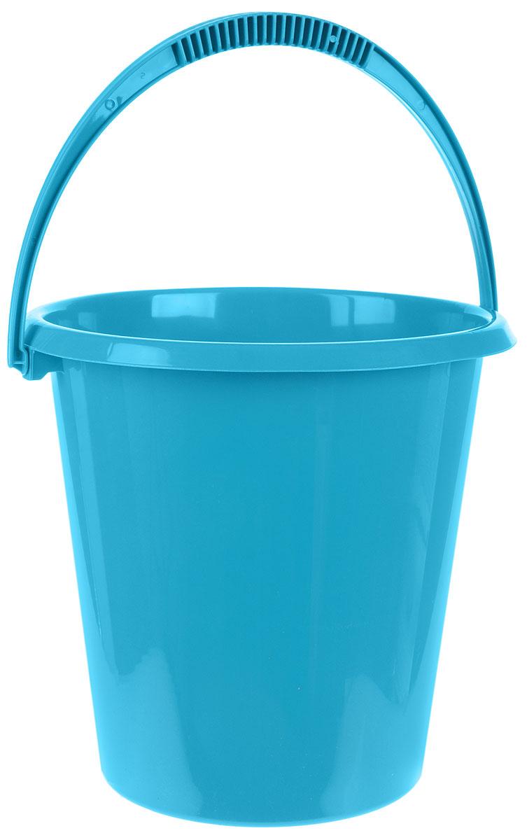 Ведро хозяйственное Idea, цвет: бирюзовый, 11 лМ 2408Ведро Idea изготовлено из высококачественного прочного пластика. Оно легче железного и не подвержено коррозии. Ведро оснащено удобной пластиковой ручкой. Имеются мерные деления. Такое ведро станет незаменимым помощником в хозяйстве. Диаметр (по верхнему краю): 29 см. Высота: 29 см.