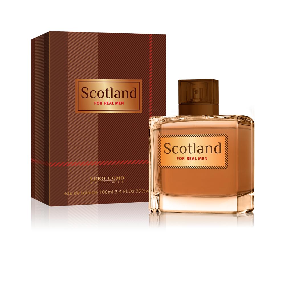 Vero Uomo Scotland, туалетная вода 100 мл2001011567Аромат Scotland вдохновлен традициями шотладского стиля, богатством культуры и исключительной красотой природы этой самобытной страны. Традиционный и мужественный, этот аромат наполняет силой, независимостью и глубокой харизмой, оставляя неизгладимое впечатление