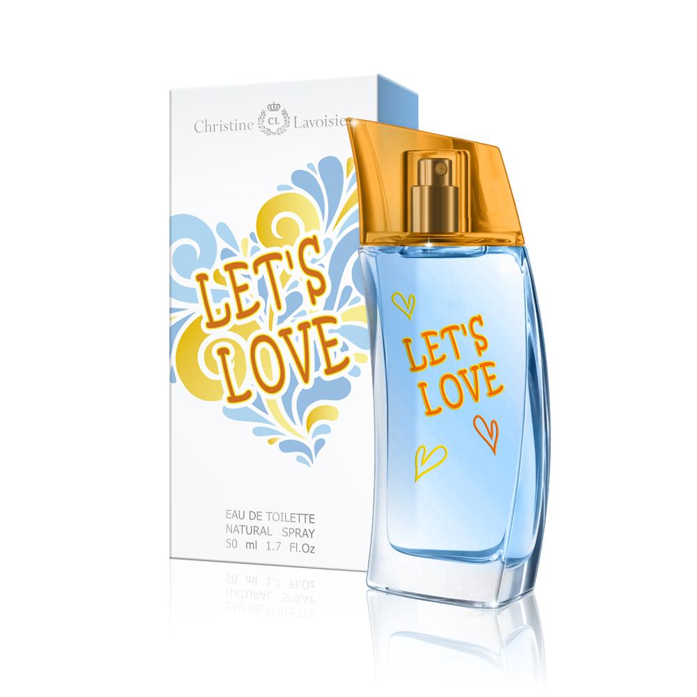Christine Lavoisier,Let's Love,туалетная вода 50 мл2001011592Упоительно свежий аромат LET`s Love - это бурный всплеск ярких эмоций и жизнерадостных красок, наполняющий энергией любви и радостью лета! Искристый цитрусовый микс заряжает бодростью нот лимона, грейпфрута и зеленого яблока. В сердце аромат обдает свежестью зеленых нот и белых цветов жасмина и апельсина, которые вновь вернут Вас в солнечное лето. Шлейф аромата, сотканный из нот кедра, ветивера, мускуса и амбры, добавит бархатистость и чувственность вашему неповторимому образу.