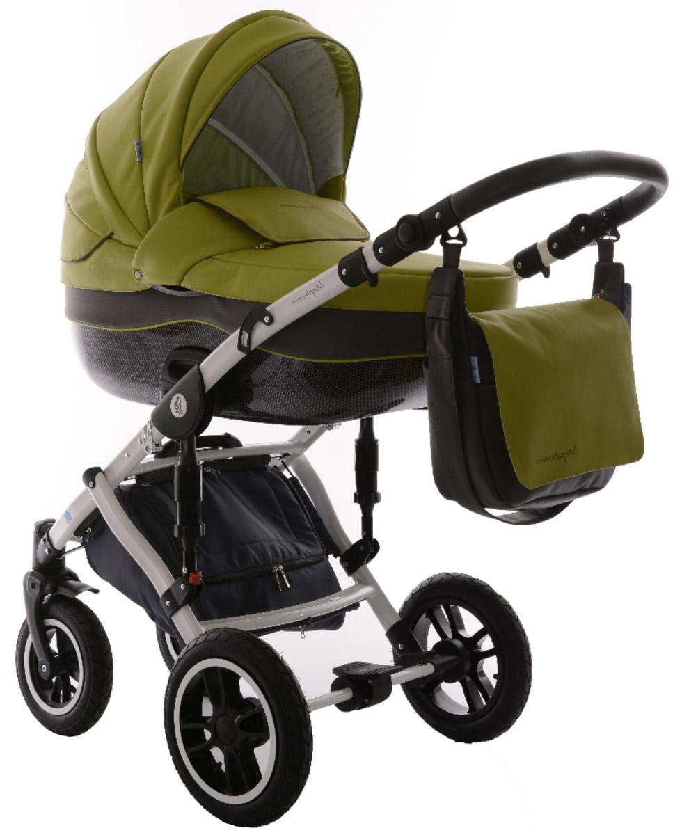 Noordline Коляска универсальная 2 в 1 Stephania №10 цвет зеленый серыйNL-STP-10Noordline Stephania из эко-кожи - всесезонная коляска с поворотными колесами. Поставляется в комплектации 2 в 1, предназначена для детей с рождения до 3,5 лет (до 15 кг). Отличается внешним видом, длительным сроком службы, теплой люлькой, простотой в эксплуатации, быстрой трансформацией в прогулочный блок с мягким и удобным раскладывающимся креслом. Стильный внешний вид без потери комфорта для прогулок по городу и за его пределами Не продуваемый короб с высокими бортами и утепленный экологически чистым материалом, который легко снять и выстирать Разработка для суровых климатических условий Передняя пара поворотных колес может быстро менять направление движения благодаря возможности поворота вокруг своей оси Европейская сборка в Польше и немецкие материалы позиционируют коляску Noordline Stephania как продукт, предназначенный для эксплуатации в семье, планирующий постепенное рождение 2-3 детей Люлька: Большого размера люлька ...