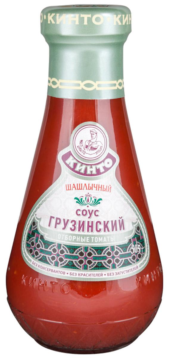 Кинто Шашлычный соус томатный грузинский, 305 г1512Томатный умеренно-острый соус Кинто Шашлычный изготовлен по классической грузинской рецептуре из томатной пасты с добавлением пряностей. Обладает гармоничным вкусом и ароматом, идеально подходит к жареному и вареному мясу, блюдам, приготовленным на мангале или гриле. Этот соус придаст пикантность и остроту любому блюду.