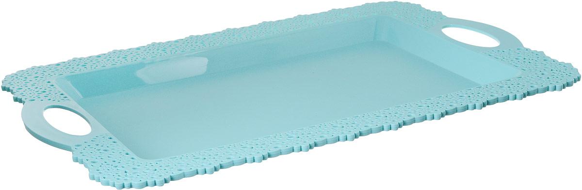 Поднос Idea Ажур, цвет: аквамарин, 30,5 х 43 смМ 1114