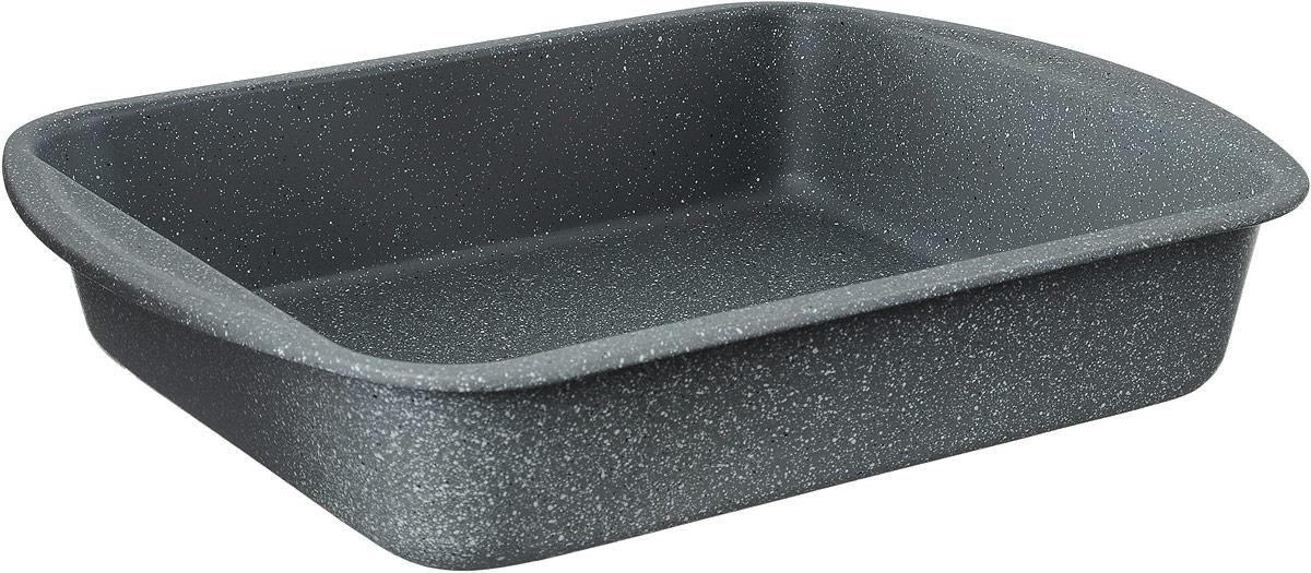 Противень Termico Granito, с керамическим и антипригарным покрытиями, 35 х 27 см220438Противень Termico Granito изготовлен из высококачественной углеродистой стали с керамическим и антипригарным покрытиями, благодаря чему продукты не пригорают и не прилипают к стенкам посуды. Кроме того, готовить можно с добавлением минимального количества масла и жиров. Антипригарное покрытие также обеспечивает легкость мытья. Стальные стенки посуды быстро распределяют тепло, благодаря чему продукты запекаются равномерно. Для чистки нельзя использовать абразивные чистящие средства и жесткие губки. Размер формы по-верхнему краю: 35 х 27 см. Высота стенки формы: 6,8 см.