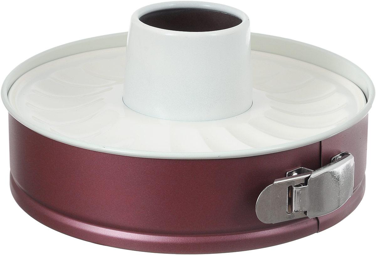 Форма для выпечки Termico EcoCeramo, с двумя керамическими основаниями, диаметр 24 см220435Круглая форма для выпечки Termico EcoCeramo изготовлена из высококачественной углеродистой стали с керамическим покрытием, благодаря чему выпечка не пригорает и не прилипает к стенкам посуды. Кроме того, готовить можно с добавлением минимального количества масла и жиров. Керамическое покрытие также обеспечивает легкость мытья. Стальные стенки посуды быстро распределяют тепло, благодаря чему выпечка пропекается равномерно. Для чистки нельзя использовать абразивные чистящие средства и жесткие губки. В комплект входят два керамических основания, с помощью одного можно выпечь пирог, с помощью другого кекс. Диаметр формы по верхнему краю: 24 см. Высота стенок формы: 6,5 см; 6,8 см.