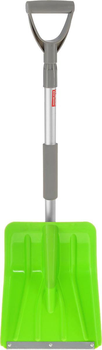 Лопата для снега Sapfire, телескопическая, цвет: салатовый, серый, длина 85-109 см0898-SF_салатовыйЛопата Sapfire предназначена для уборки снега. Имеет удобную телескопическую ручку из алюминиевого сплава и надежный фиксатор. Легко помещается в багажник автомобиля. Ковш выполнен из прочного пластика с металлической окантовкой на конце. Минимальная длина лопаты: 85 см. Максимальная длина лопаты: 109 см. Ширина рабочей части: 25 см.