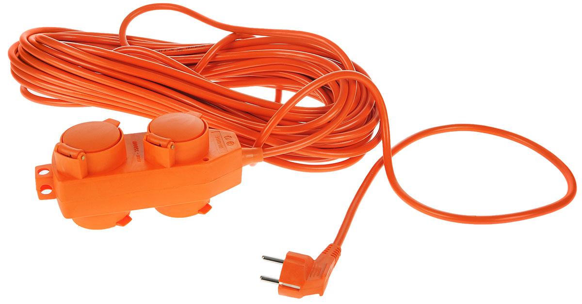 Удлинитель силовой UNIVersal влагозащищенный, 20 м, 4 розетки. 963386183290Силовой удлинитель с заземлением UNIVersal рассчитан на подключение к розетке от одного до четырех электроприборов. Незаменим при строительных и ремонтных работах, когда приборы, требующие электропитание, расположены на удаленном расстояние от розетки до 20 метров. Можно использовать как дома, так и в гараже, на приусадебных участках. Срок службы данного удлинителя долог. Это обеспечивается за счет ряда факторов. Во-первых, есть двойная изоляция провода, защищающая его от механических повреждений. Во-вторых, контакты вилок изготовлены из латуни и покрыты слоем никеля, что не позволяет им долгое время окисляться под воздействием внешней среды. Обеспечивается надежное электрическое соединение с контактами розеток. Слой каучука, покрывающий розетку, повышает прочность изделия и защищает ее от разрушения при ударах о твердые предметы, а его диэлектрические свойства повышают безопасность работы.