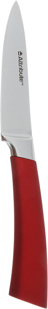 Нож для чистки овощей и фруктов Attribute Knife Tango, цвет: красный, стальной, длина лезвия 9 смAKT109Нож Attribute Knife Tango Gold изготовлен из первоклассной нержавеющей стали и предназначен для чистки овощей и фруктов. Лезвие сделано из высококачественной хромо- молибденово-ванадиевой стали из Германии. Технология холодной закалки обеспечивает долгую заточку и повышенную устойчивость к коррозии. Такой нож станет прекрасным дополнением к коллекции ваших кухонных аксессуаров и не займет много места при хранении. Общая длина ножа: 19,5 см.