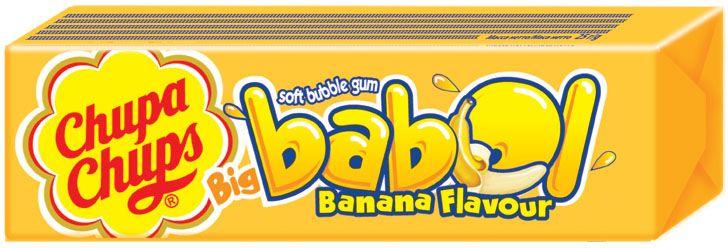 Big Babol Banana Flavour bubbly gum жевательная резинка, 24 штуки по 21 г