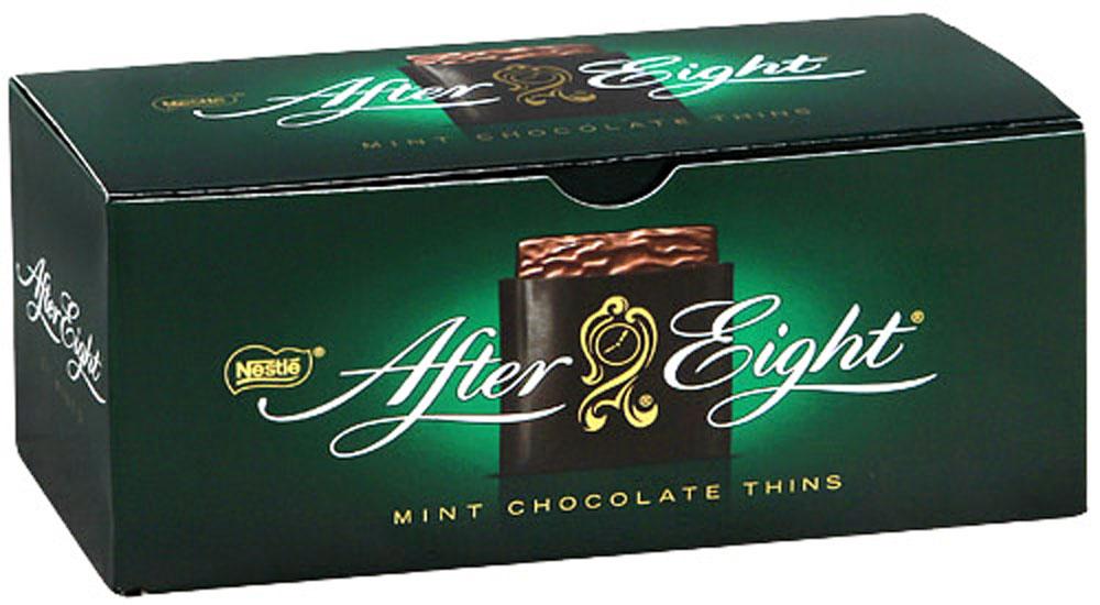 After Eight шоколадные конфеты со вкусом мяты, 200 г12253681Тонкие конфеты из темного шоколада с ментоловой начинкой. Отличаются приятным сладким вкусом с мятными нотками. Уважаемые клиенты! Обращаем ваше внимание, что полный перечень состава продукта представлен на дополнительном изображении.