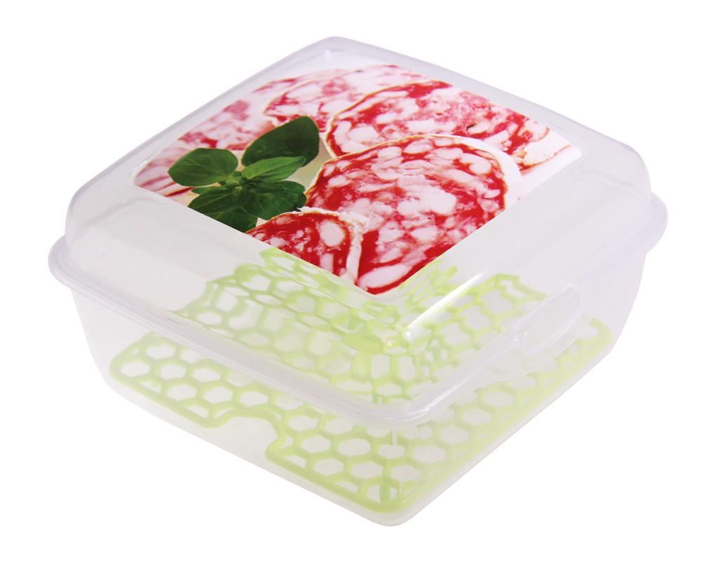 Емкость для продуктов Idea Колбаса со вставкой, цвет: прозрачный, 14 х 14 х 8 смМ 1459