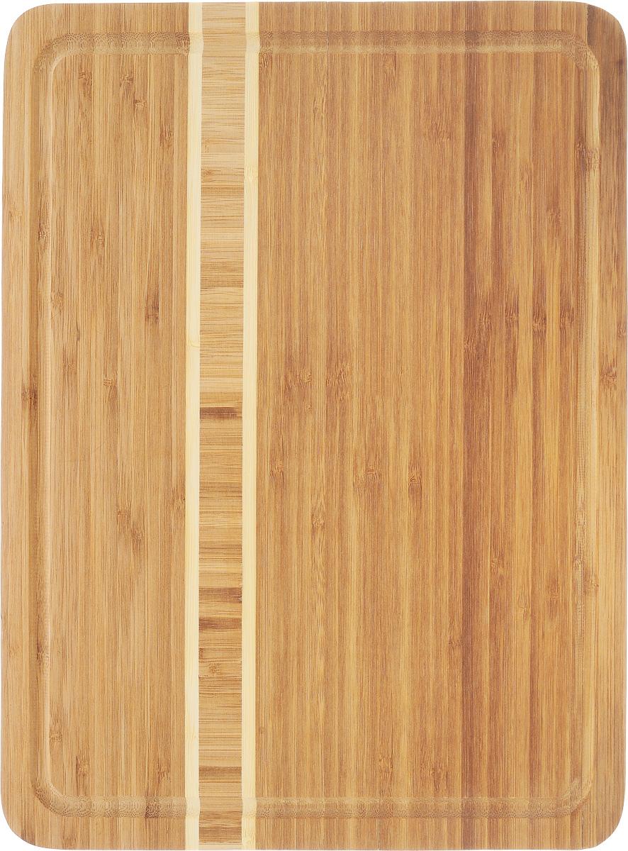 Доска разделочная Termico, 39 x 30 x 1,8 см220740Разделочная доска Termico выполнена из 100% натурального бамбука. Прочная, долговечная доска не боится воды и не впитывает запахи. Легко моется, бережно относится к лезвию ножа. По краям доска оснащена бортиком для стока жидкости. Такая доска понравится любой хозяйке и будет отличной помощницей на кухне.