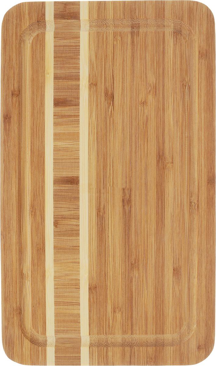 Доска разделочная Termico, 29 x 17 x 1,8 см. 220738220738Разделочная доска Termico выполнена из 100% натурального бамбука. Прочная, долговечная доска не боится воды и не впитывает запахи. Легко моется, бережно относится к лезвию ножа. По краям доска оснащена бортиком для стока жидкости. Такая доска понравится любой хозяйке и будет отличной помощницей на кухне.