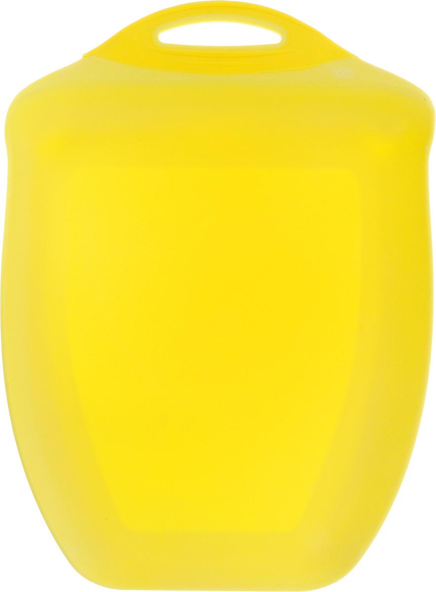 Доска разделочная Menu Рататуй, цвет: желтый, 32,5 х 23,5 х 3,5 смRTT-32_желтыйРазделочная доска Menu Рататуй выполнена из высококачественного пищевого пластика и предназначена для разделывания мяса, рыбы, нарезки овощей, фруктов, колбас, хлеба и сыра. Доска долговечна, износостойка и прекрасно подойдет для ежедневного использования. Поверхность доски не тупит лезвия ножей при использовании и не впитывает запахи продуктов. В конструкции доски предусмотрены специальные небольшие бортики, которые предотвратят случайное ссыпание продуктов с доски, но не будут мешать при нарезке. Для удобства хранения доска имеет отверстие для подвешивания в любое место на кухне. Мыть только вручную. Не применяйте мля мытья и чистки абразивные средства и сильнодействующие химикаты, это может привести к повреждению изделия. Размеры изделия (с учетом бортов): 32,5 х 23,5 х 3,5 см.