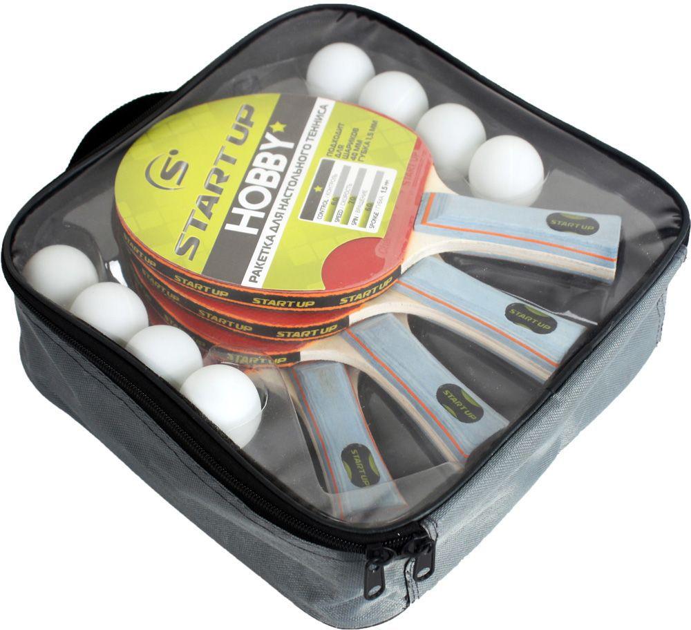Набор для настольного тенниса Start Up: 4 ракетки, 8 шариков. BB02/1 star (8008)150463В наборе: 4 ракетки + 8 шариков Упаковка: чехол