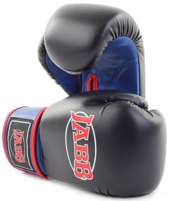 Перчатки боксерские Jabb JE-2015, цвет: черный, синий, 6 oz