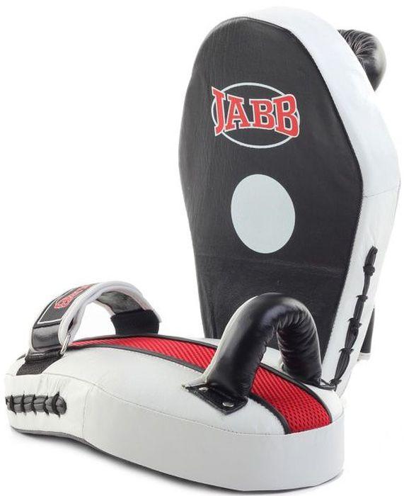 Лапа боксерская Jabb JE-2198, цвет: черный, белый, 2 шт311056Застежка: Velcro для фиксации на руке Материал: натуральная кожа Наполнитель: синтетическая пена Рекомендованы для тренирующихся спортсменов