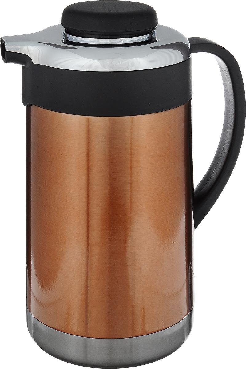 Термо-кофейник Termico, 1,5 л250088Термо-кофейник Termico предназначен для хранения горячих или холодных напитков. Изготовлен из высококачественной нержавеющей стали, которая обладает высоким уровнем качества и абсолютно безопасна для здоровья человека. Кофейник оснащен удобной эргономичной ручкой. Пластиковая крышка с силиконовой прослойкой обеспечивает надежное закрытие термоса и гарантирует сохранность напитка в процессе транспортировки. Благодаря наличию металлической колбы и хорошей вакуумной изоляции изделие сохраняет напитки горячими до 8 часов, а холодными до 24 часов. Такой термо-кофейник непременно пригодится во время проведения отдыха на природе, путешествии, рыбалке или просто дома. Диаметр по верхнему краю: 4 см. Диаметр основания: 12 см. Высота (с учетом крышки): 24,5 см.