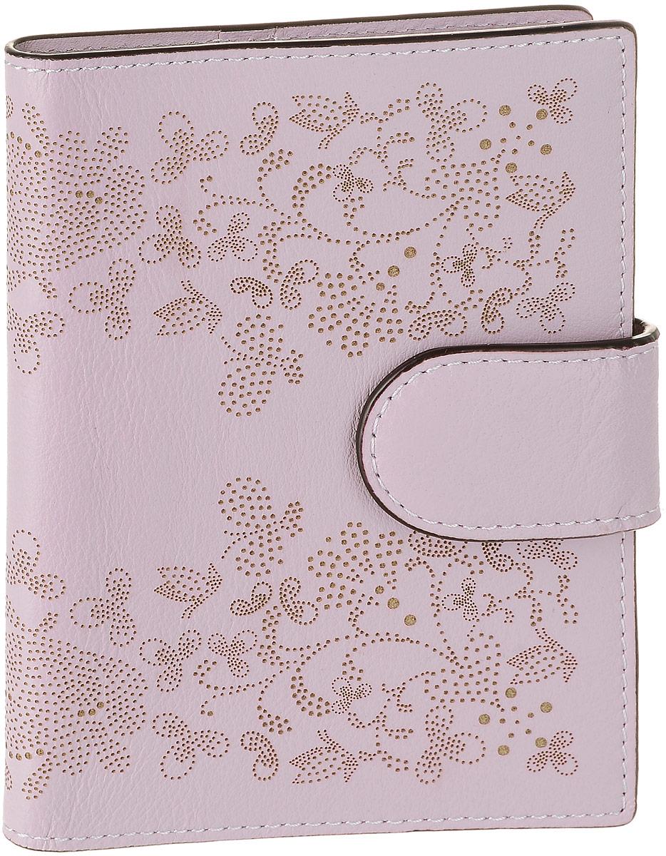 Обложка для документов женская Leo Ventoni, цвет: сиреневый. L330865L330865 purpleСтильная обложка для документов Leo Ventoni выполнена из натуральной кожи и оформлена перфорацией с оригинальным орнаментом. Изделие раскладывается пополам и закрывается хлястиком на кнопку. Внутри размещены два боковых кармана для паспорта, шесть карманов для кредитных карт, один из которых с прозрачным окошком из мягкого пластика, и дополнительный боковой кармашек. Изделие поставляется в фирменной упаковке. Оригинальная обложка для документов Leo Ventoni станет отличным подарком для человека, ценящего качественные и практичные вещи.