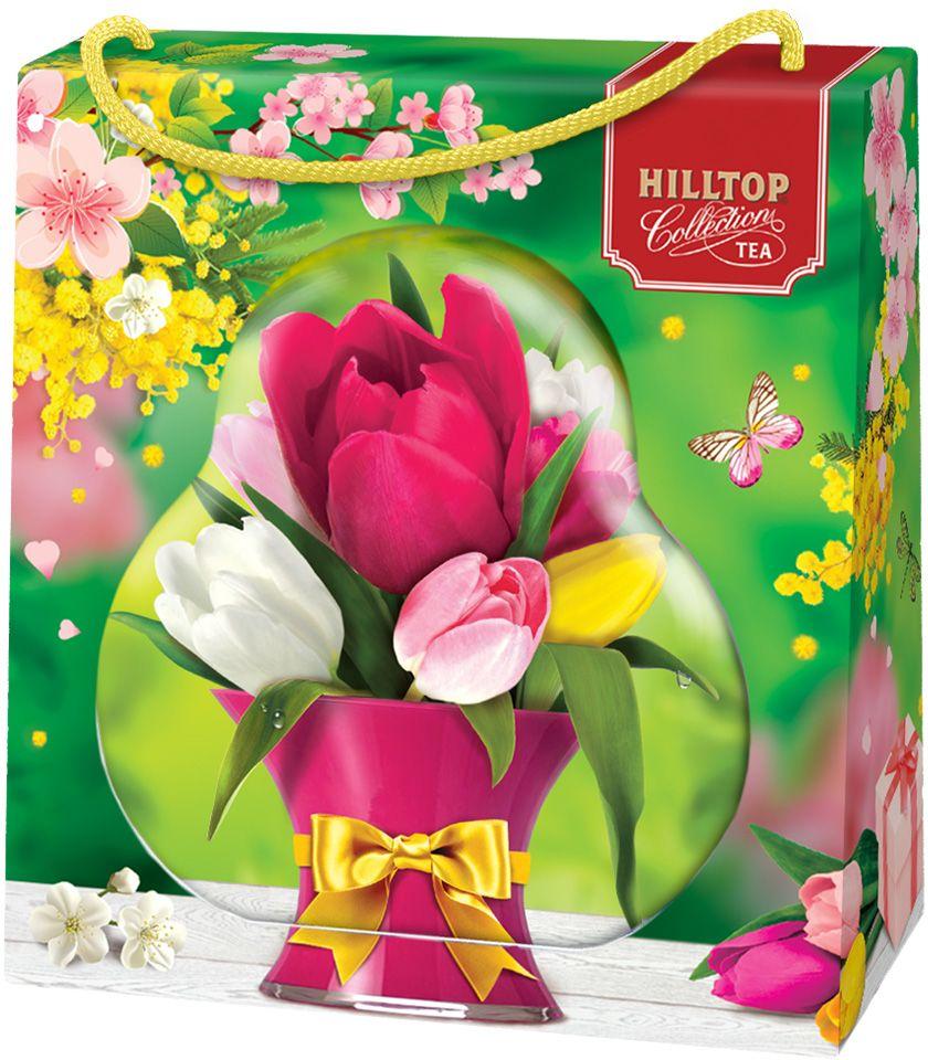 Hilltop Зеленая симфония 50 зеленый листовой чай в футляре, 50 г4607099307919Чай «Зеленая симфония» - свежий зеленый китайский чай Сенча с лепестками календулы и мальвы.