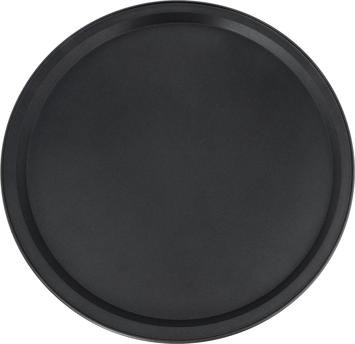 Форма для пиццы Termico Classico, с антипригарным покрытием, диаметр 33 см220422Круглая форма для пиццы Termico Classico изготовлена из углеродистой стали с антипригарным покрытием. Покрытие экологичное и безопасное для здоровья, оно не содержит примеси PFOA, свинца и кадмия. Благодаря антипригарному покрытию нет необходимости использовать подсолнечное масло. Пища не пригорает и не прилипает к стенкам, легко достается из формы, сохраняя при этом аккуратный внешний вид. Изделие прослужит долго и обеспечит легкое и удобное приготовление вашей любимой пиццы. Можно использовать в духовом шкафу при температуре до 250°С. Внутренний диаметр формы: 30,5 см. Размер формы с учетом ручек: 33 х 33 х 1,8 см.