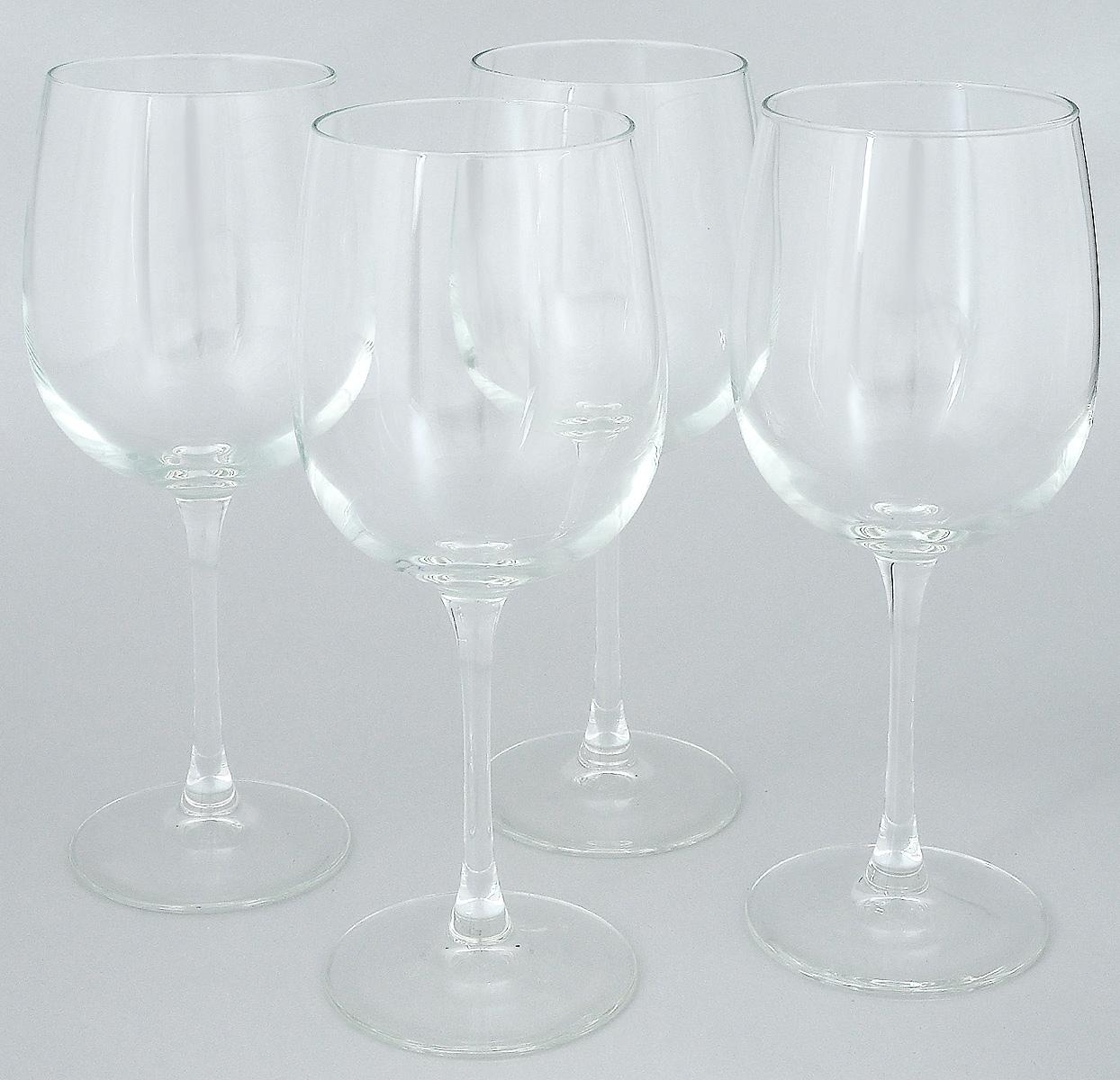 Набор фужеров для вина Luminarc Allegresse, 550 мл, 4 штL1403Набор Luminarc Allegresse состоит из четырех фужеров, выполненных из прочного стекла. Изделия оснащены высокими ножками. Фужеры предназначены для подачи вина. Они сочетают в себе элегантный дизайн и функциональность. Благодаря такому набору пить напитки будет еще вкуснее. Набор фужеров Luminarc Allegresse прекрасно оформит праздничный стол и создаст приятную атмосферу за романтическим ужином. Такой набор также станет хорошим подарком к любому случаю. Можно мыть в посудомоечной машине. Диаметр фужера (по верхнему краю): 7,5 см. Высота фужера: 23 см.
