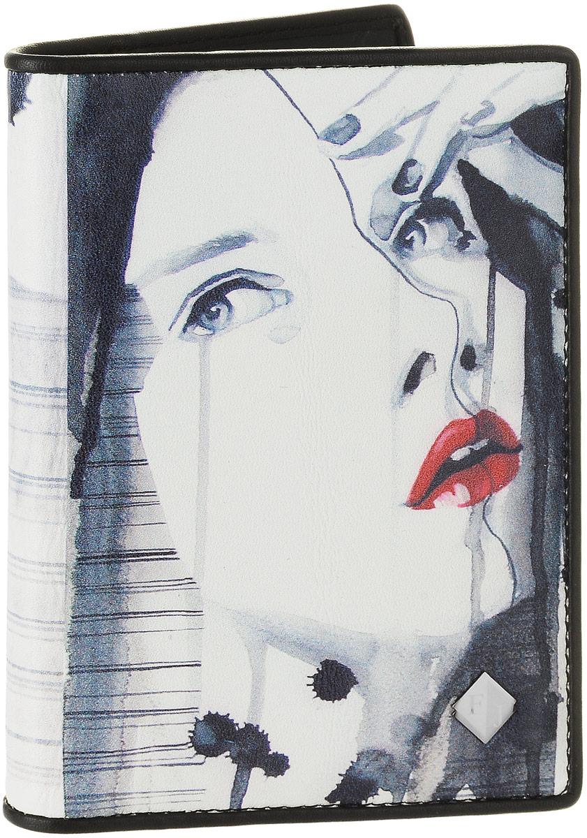 Обложка для автодокументов женская Flioraj, цвет: белый, серо-синий, красный. 136136-BeautyЖенская обложка для автодокументов Flioraj выполнена из натуральной кожи и оформлена изображением девушки. Изделие раскладывается пополам. Обложка содержит съемный блок из шести прозрачных файлов из мягкого пластика, один из которых формата А5 и два боковых прозрачных кармана. Изделие упаковано в фирменную коробку. Модная обложка для автодокументов поможет сохранить их внешний вид и защитить от повреждений.