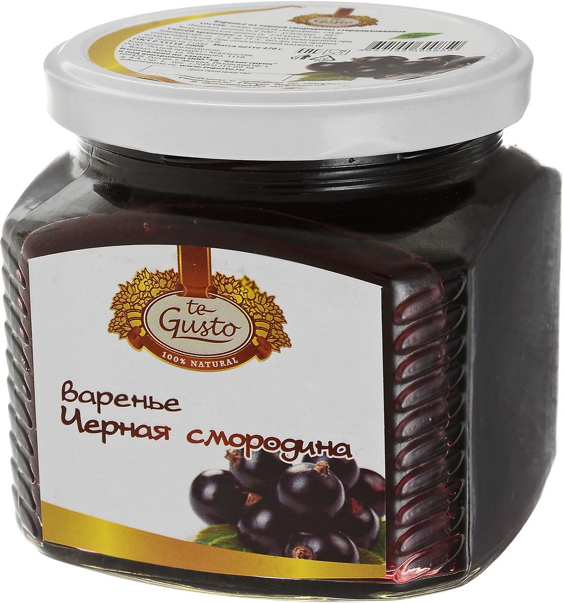 te Gusto Варенье из черной смородины, 470 г
