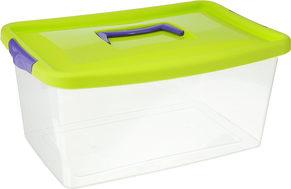 Контейнер для хранения Idea, цвет: прозрачный, салатовый, фиолетовый, 9 лМ 2872_салатовыйКонтейнер для хранения Idea выполнен из высококачественного полипропилена. Изделие оснащено двумя пластиковыми фиксаторами по бокам, придающими дополнительную надежность закрывания крышки. Вместительный контейнер позволит сохранить различные нужные вещи в порядке, а герметичная крышка предотвратит случайное открывание, защитит содержимое от пыли и грязи. Объем: 9 л. Размер контейнера (с учетом крышки): 36,8 х 24,3 х 17 см.