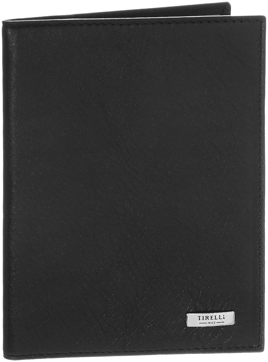 Обложка для паспорта Tirelli Классик, цвет: черный. 15-333-0715-333-07Обложка для паспорта Tirelli Классик выполнена из натуральной кожи с фактурной поверхностью. Внутри расположены боковые прозрачные карманы из пластика для фиксации паспорта. Изделие упаковано в фирменную коробку. Такая обложка не только поможет сохранить внешний вид ваших документов, но и станет стильным аксессуаром, идеально подходящим вашему образу.