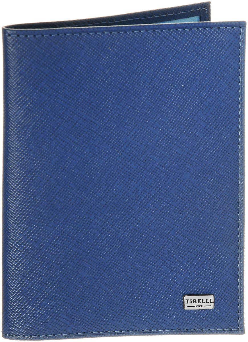 Обложка для паспорта Tirelli Виктория, цвет: голубой. 15-333-0215-333-02Обложка для паспорта Tirelli Виктория изготовлена из натуральной кожи голубого цвета с рельефной текстурой. Внутри два вертикальных кармана из прозрачного пластика. Такая обложка не только поможет сохранить внешний вид ваших документов и защитит их от повреждений, но и станет ярким аксессуаром, который подчеркнет ваш образ. Изделие упаковано в подарочную коробку синего цвета с логотипом фирмы Tirelli. Характеристики: Материал: натуральная кожа, текстиль, пластик. Цвет: голубой. Размер обложки (в сложенном виде): 13,5 см х 9,5 см. Размер упаковки: 15,5 см х 11,5 см х 2,5 см. Артикул: 15-333-02.
