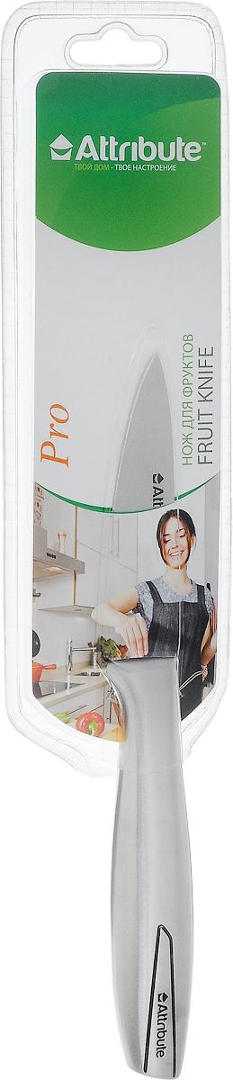 Нож для чистки овощей и фруктов Attribute Knife Pro, длина лезвия 8 смAKL109Нож Attribute Knife Pro изготовлен из высококачественной нержавеющей стали. Такой нож отлично подходит для чистки овощей и фруктов. Нож предоставит вам все необходимые возможности в успешном приготовлении пищи. Длина лезвия: 8 см. Общая длина ножа: 19 см.