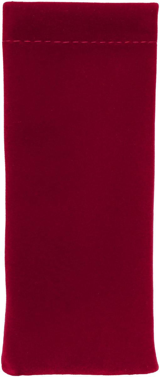 Proffi Home Футляр для очков Fabia Monti текстильный, мягкий, узкий, цвет: бордовый