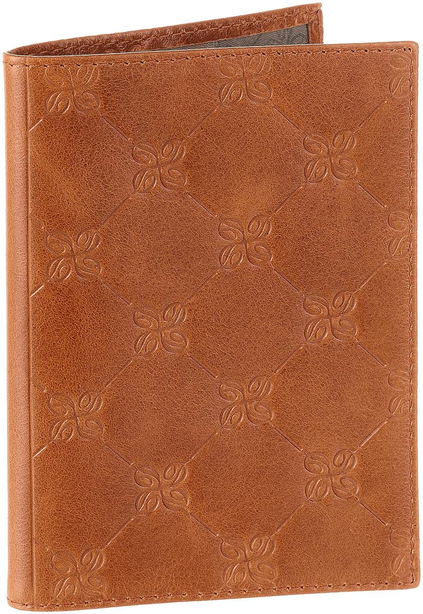 Обложка для паспорта Dimanche Louis Brun, цвет: коричневый. 595595Обложка для паспорта Dimanche Louis Brun изготовлена из натуральной кожи коричневого цвета с декоративным тиснением. Внутри содержится два прозрачных захвата для паспорта. Внутренняя отделка - из стильной ткани серого цвета. Обложка Dimanche Louis Brun не только поможет сохранить внешний вид вашего паспорта и защитит его от повреждений, но и станет ярким аксессуаром, который подчеркнет ваш неповторимый стиль. Обложка упакована в фирменную подарочную коробку.