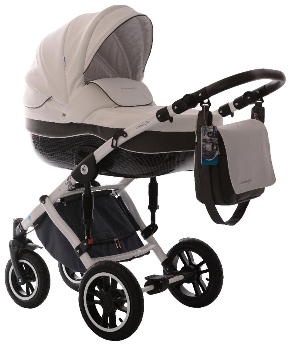Noordline Коляска универсальная 2 в 1 Stephania №9 цвет серый белыйNL-STP-09Noordline Stephania из эко-кожи - всесезонная коляска с поворотными колесами. Поставляется в комплектации 2 в 1, предназначена для детей с рождения до 3,5 лет (до 15 кг). Отличается внешним видом, длительным сроком службы, теплой люлькой, простотой в эксплуатации, быстрой трансформацией в прогулочный блок с мягким и удобным раскладывающимся креслом. Стильный внешний вид без потери комфорта для прогулок по городу и за его пределами Непродуваемый короб с высокими бортами и утепленный экологически чистым материалом, который легко снять и выстирать Разработка для суровых климатических условий Передняя пара поворотных колес может быстро менять направление движения благодаря возможности поворота вокруг своей оси Европейская сборка в Польше и немецкие материалы позиционируют коляску Noordline Stephania как продукт, предназначенный для эксплуатации в семье, планирующей постепенное рождение 2-3 детей. Люлька: Большого размера (размеры спального места ~75...