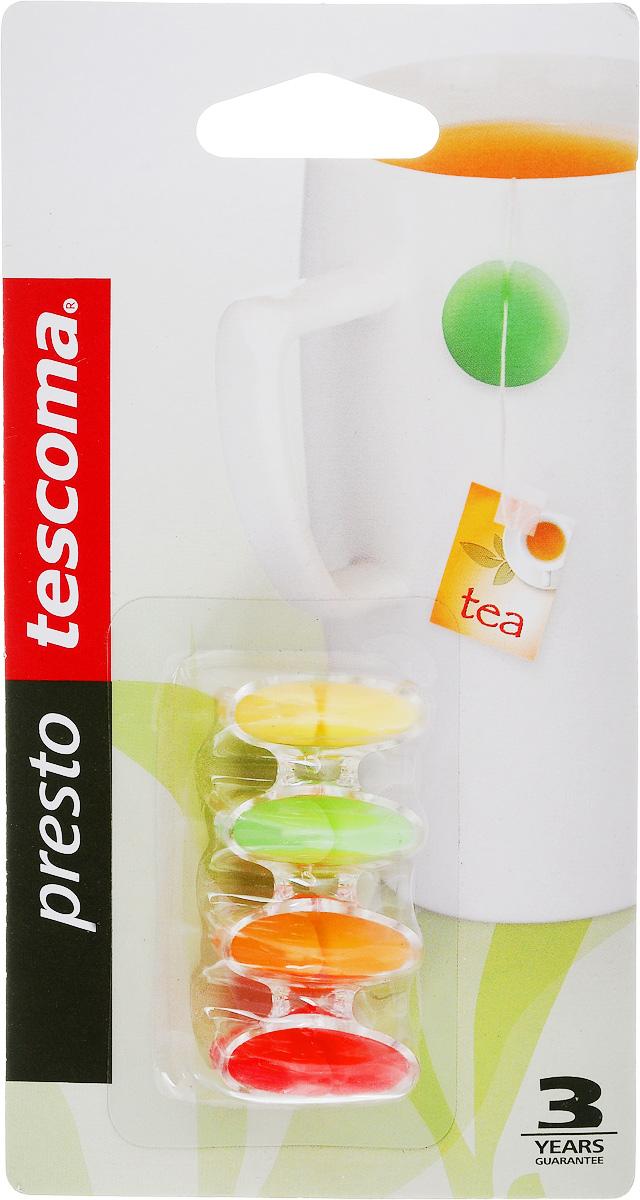 Грузик для чайных пакетов Tescoma Presto, с подставкой, 4 шт420682Грузик для чайных пакетов Tescoma Presto изготовлен из силикона. На нитку чайного пакетика наденьте грузик и повесьте на край кружки. Подвеска не соскользнет в чай даже при заливании чайного пакетика горячей водой. В комплект с грузиками входит пластмассовая подставка. Можно мыть в посудомоечной машине. Диаметр грузика: 2,3 см. Количество в упаковке: 4 шт.