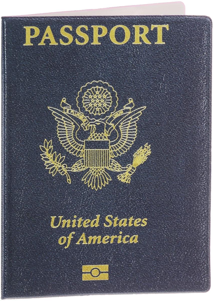 Обложка для паспорта Эврика United States of Amerika, цвет: темно-синий, желтый. 9412594125Стильная обложка для паспорта Эврика United States of Amerika выполнена из ПВХ. Обложка оформлена оригинальным рисунком, который нанесен специальным образом и защищен от стирания. Внутри расположены боковые прозрачные карманы из ПВХ для фиксации паспорта.