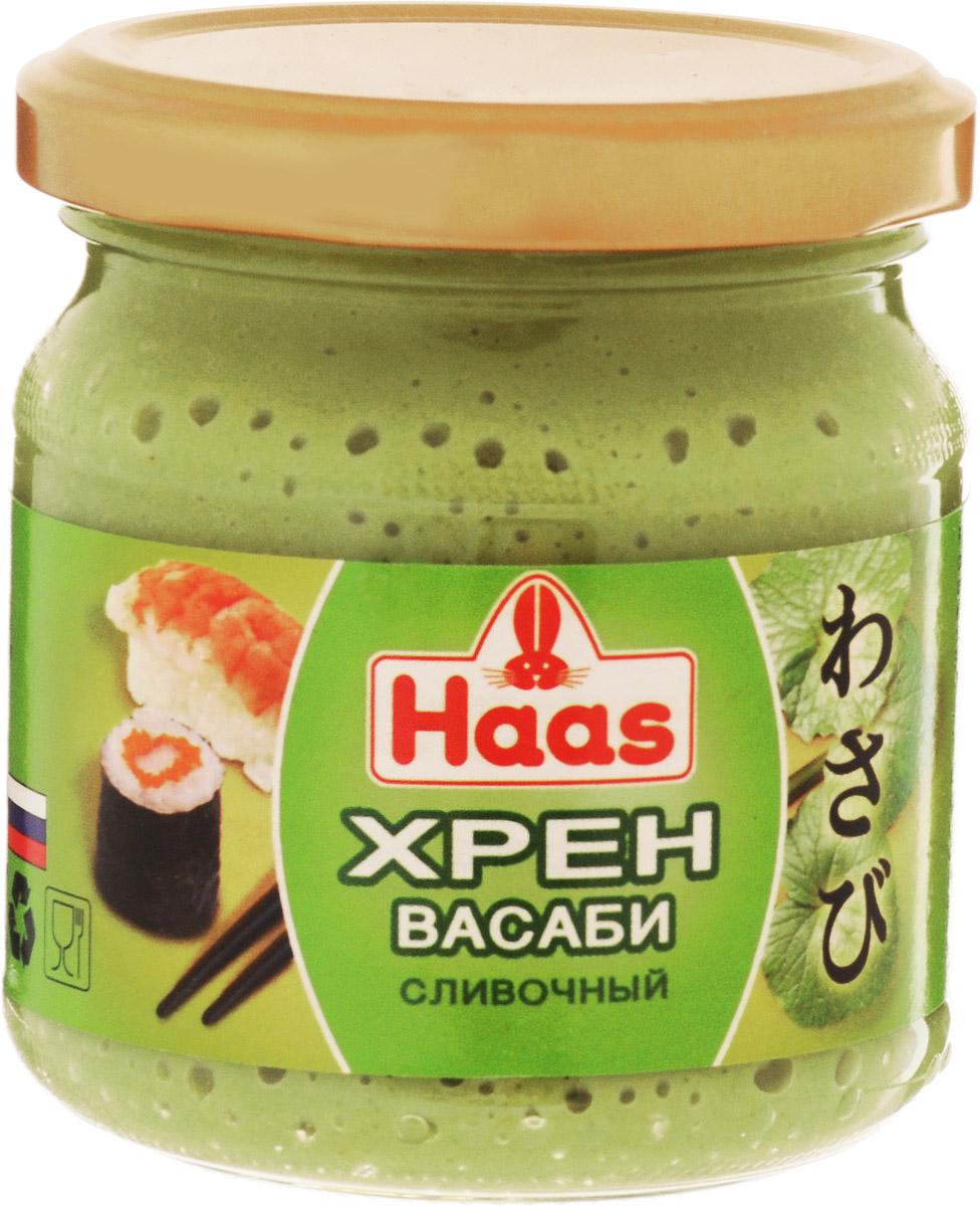 Haas хрен васаби сливочный, 190 г52133Хрен Васаби с кремовой текстурой подойдет даже привередливым гурманам. Соус прекрасно дополнит суши, блюда из рыбы или ракообразных. Уважаемые клиенты! Обращаем ваше внимание, что полный перечень состава продукта представлен на дополнительном изображении.