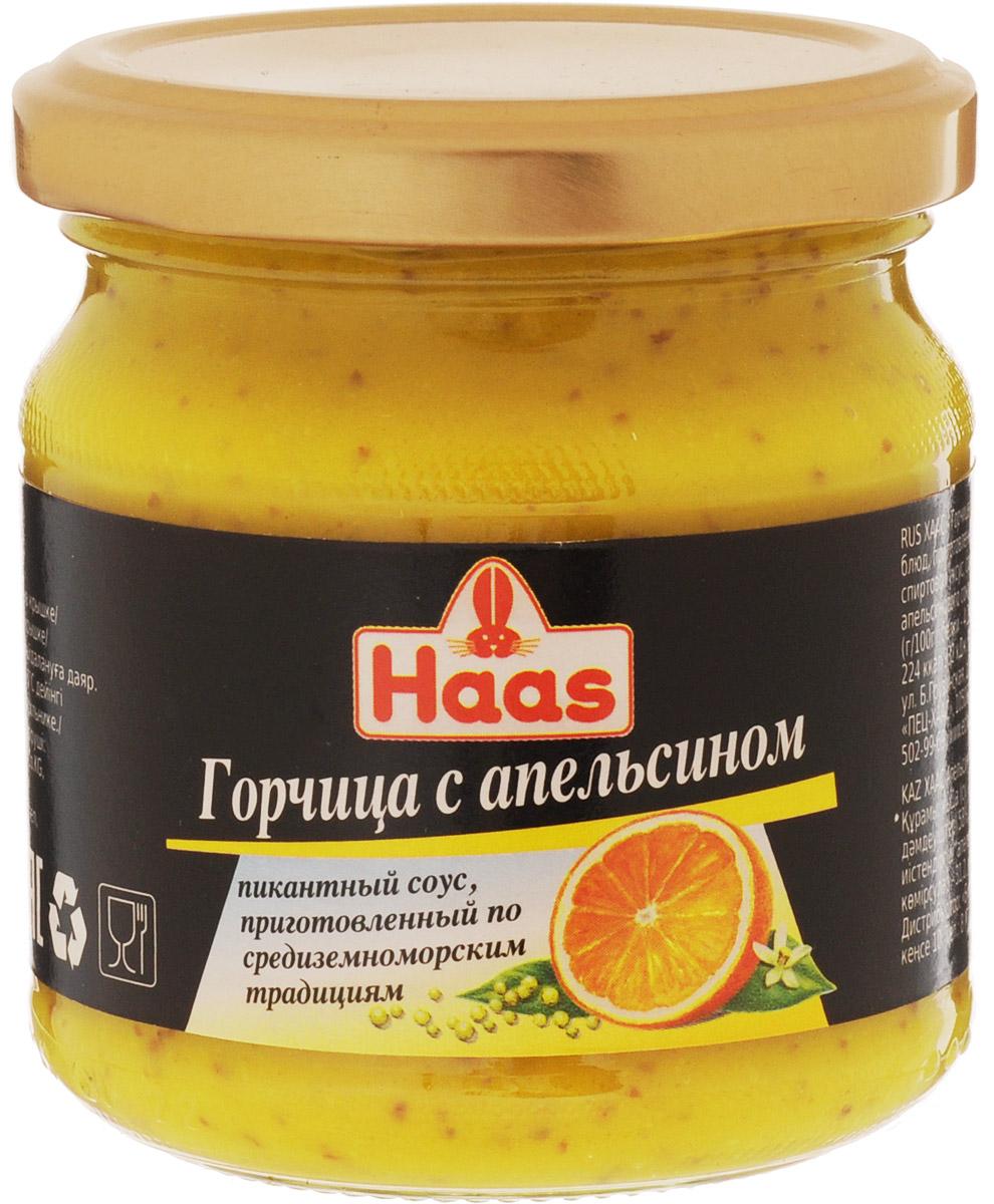 Haas горчица с апельсином, 210 г 52135
