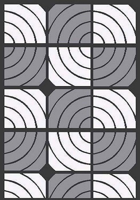 Ковер Mutas Carpet А.Коттон Фешен, цвет: темно-серый, 120 х 180 см. 203420130212173688203420130212173688ворс полиэстер 50%, микрофибра30%, букле 20%
