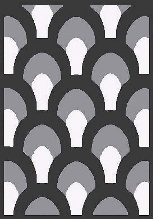 Ковер Mutas Carpet А.Коттон Фешен, цвет: темно-серый, 120 х 180 см. 203420130212173797203420130212173797ворс полиэстер 50%, микрофибра30%, букле 20%