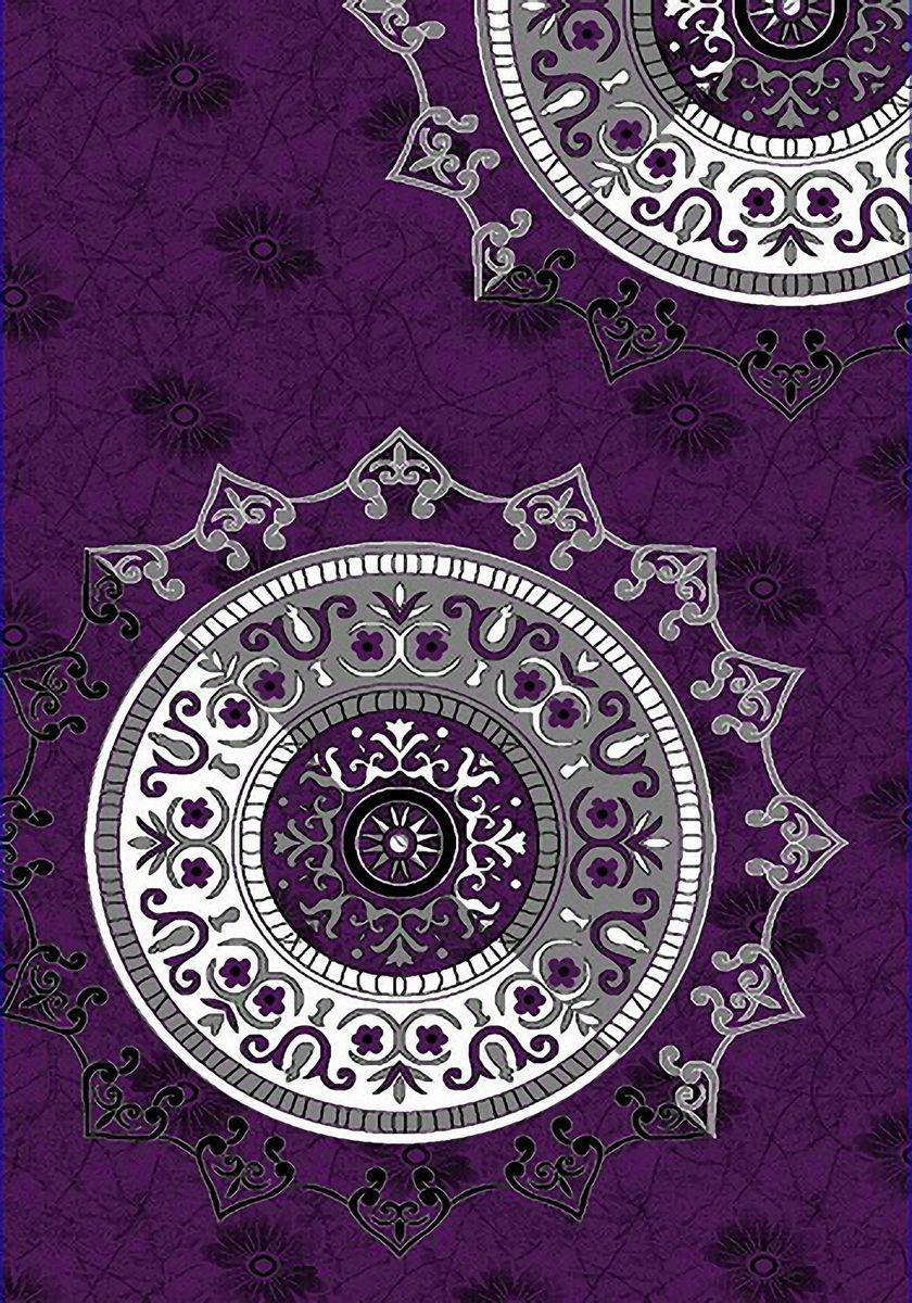 Ковер Emirhan Карвинг Империал Колор, цвет: черно-розовый, 80 х 150 см. 203420130212174101203420130212174101Ворс: 100% полипропилен хит-сет, ручная выстрижка ворса