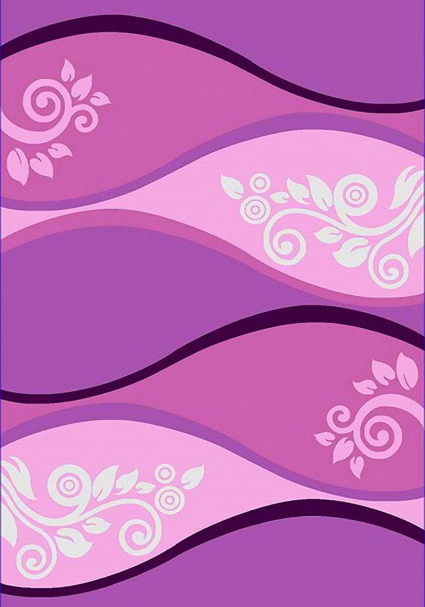 Ковер Emirhan Карвинг Империал Колор, цвет: сиреневый, 80 х 150 см. 203420130212174846203420130212174846Ворс: 100% полипропилен хит-сет, ручная выстрижка ворса