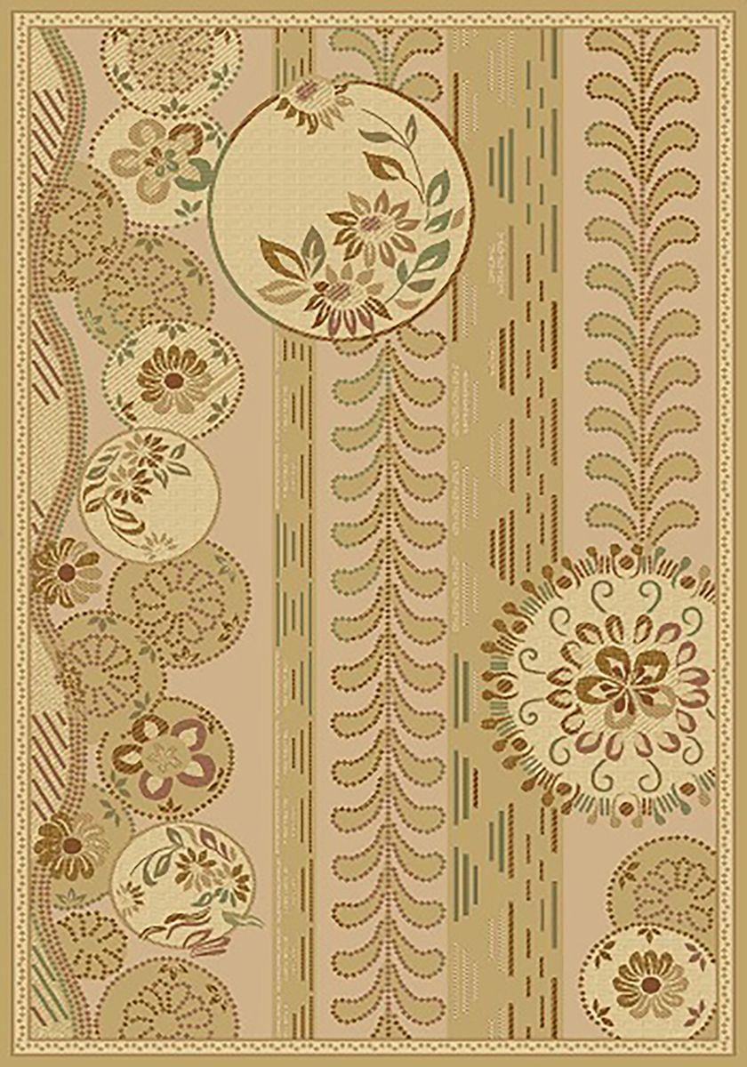 Ковер Mutas Carpet Антик Хом Люрекс, цвет: светло-бежевый, 80 х 150 см. 2555SA201112061025232555SA20111206102523Ворс полипропилен/акрил, обработка нити хит-сет
