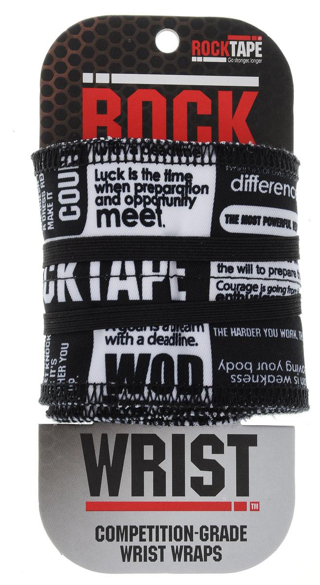 Бинт кистевой Rocktape RockWrist, цвет: черный, белый, 55 х 6 см, 2 штRTWrist-Mnf_черно-белыйКистевые бинты Rocktape RockWrist - это надежная поддержка во время тренировок и соревнований. Изделия максимально удобны при обертывании запястья. Бинты выполнены из полиэстера, который обеспечивает 10% растягивание.