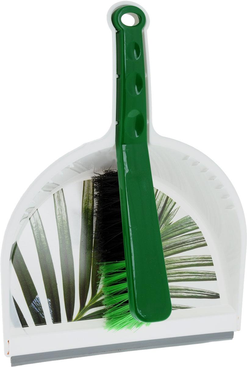 Щетка-сметка Idea Деко. Пальма, с совкомМ 5324Щетка-сметка Idea Деко. Пальма станет незаменимым помощником в деле удаления пыли и мусора с различных поверхностей. Эластичный ворс на щетке, изготовленный из полимера, не оставит от грязи и следа. В комплекте вместительный совок углубленной формы, выполненный из прочного пластика. Удобная форма совка с бордюром, который удерживает собранный мусор, позволит эффективно и быстро совершить уборку в любом помещении. Ручка совка позволяет прикреплять его к рукоятке щетки. На рукояти изделий имеется специальное отверстие для подвешивания. Длина щетки-сметки: 28 см. Длина ворса: 6 см. Размер рабочей поверхности совка: 23 х 21 см. Размер совка (с учетом ручки): 33,5 х 23 х 10 см.