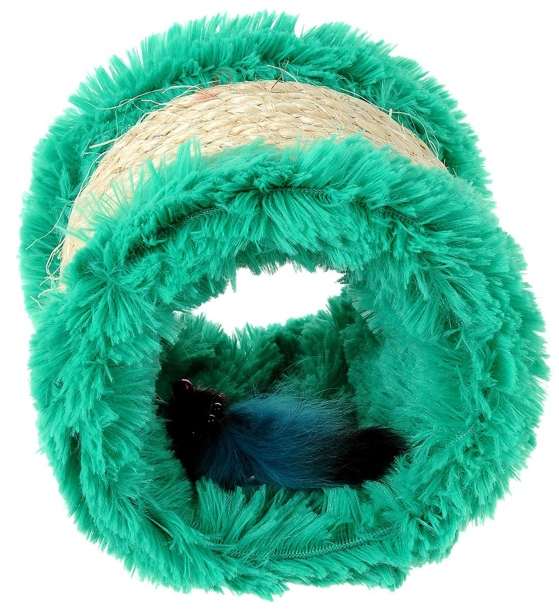 Когтеточка Zoobaloo, с игрушкой, высота 12 см336Оригинальная когтеточка разработана компанией Zoobaloo в виде цилиндра из сизаля и текстиля. Внутри когтеточки расположена мышка на резинке. Такой когтеточкой можно не только поточить коготки, но и весело поиграть, гоняя по полу лапкой или покусывая зубами. Если вы хотите сделать вашей кошке по-настоящему шикарный подарок - приобретите этот аксессуар, совместив приятное с полезным. Когтеточки - обязательный аксессуар для личной гигиены кошек, который помогает животным избавиться от мешающихся шелушащихся слоев когтя, причиняющих дискомфорт подушечкам лап. Кроме того волокна сизаля - натуральный растительный продукт, который не только является очень крепким и стойким к повреждениям, но так же имеет отталкивающее бактерии покрытие, благодаря чему абсолютно безвреден для кошек. Высота игрушки: 12 см. Диаметр игрушки: 13 см.